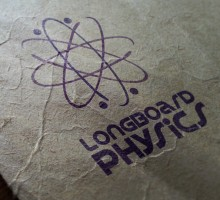 Logo design for Longboard physics. THey unfortunately changed their name and didn't adopt the design.