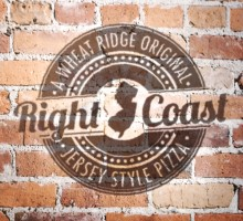 Right Coast Pizza Logo Design