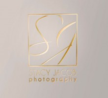 Stacy Jacob Photography logo - gold embossed logo