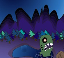 Illustration of night monster