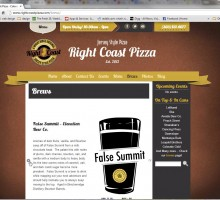 Right Coast Pizza Website