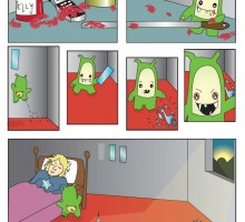 Graphic short story about a mischievous monster