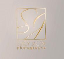Stacy Jacob Photography logo - gold embossed logo